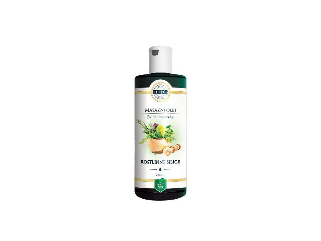 TOPVET Rostlinné silice masážní olej 200ml