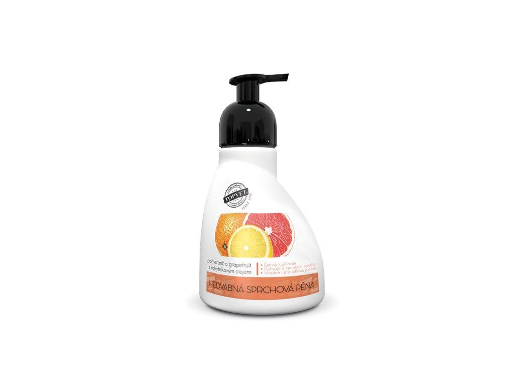 Perlé Cosmetic Sprchová pěna - pomeranč a grapefruit s rakytníkovým olejem 300ml