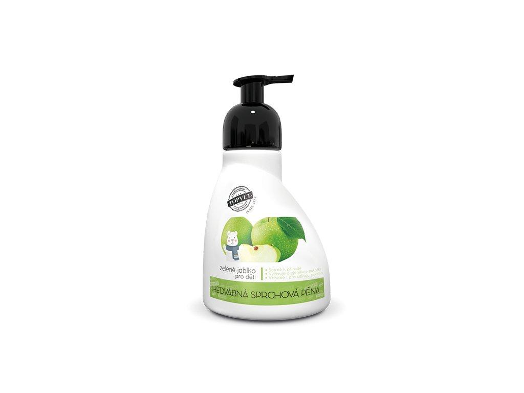 Perlé Cosmetic Sprchová pěna - zelené jablko - vhodné pro děti 300ml