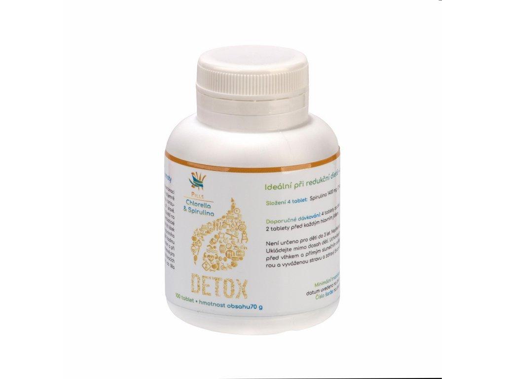 Dr.nek Pills Chlorella & Spirulina detoxikace organismu 100tablet