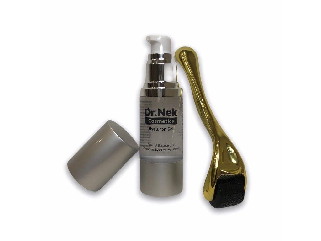 Dr.nek Cosmetics Kyselina hyaluronová gel 30ml v setu s derma válečkem 0,25mm