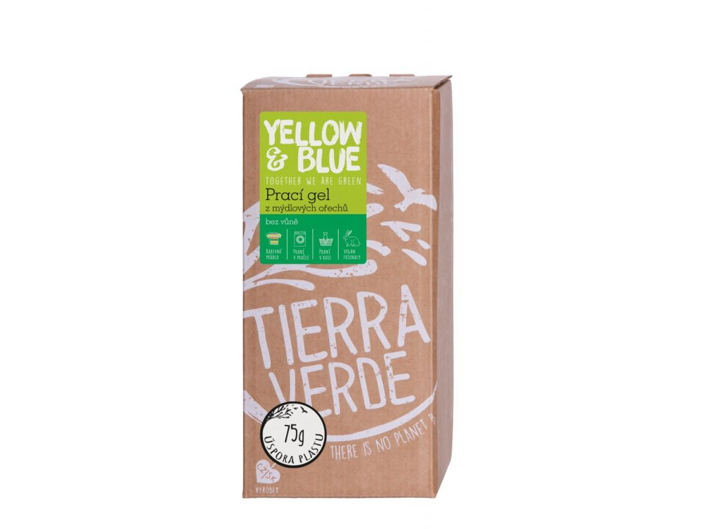 Tierra Verde – Prací gel bez vůně (Yellow & Blue), 2 l