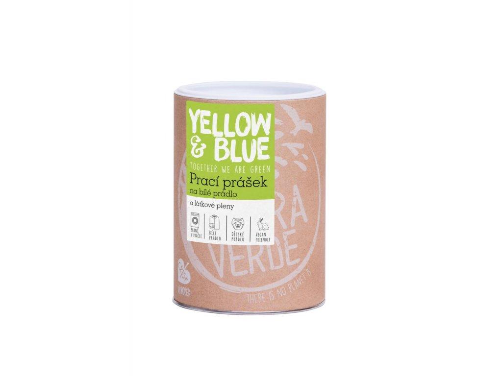 Tierra Verde – Prací prášek na bílé prádlo a pleny (Yellow & Blue), 850 g