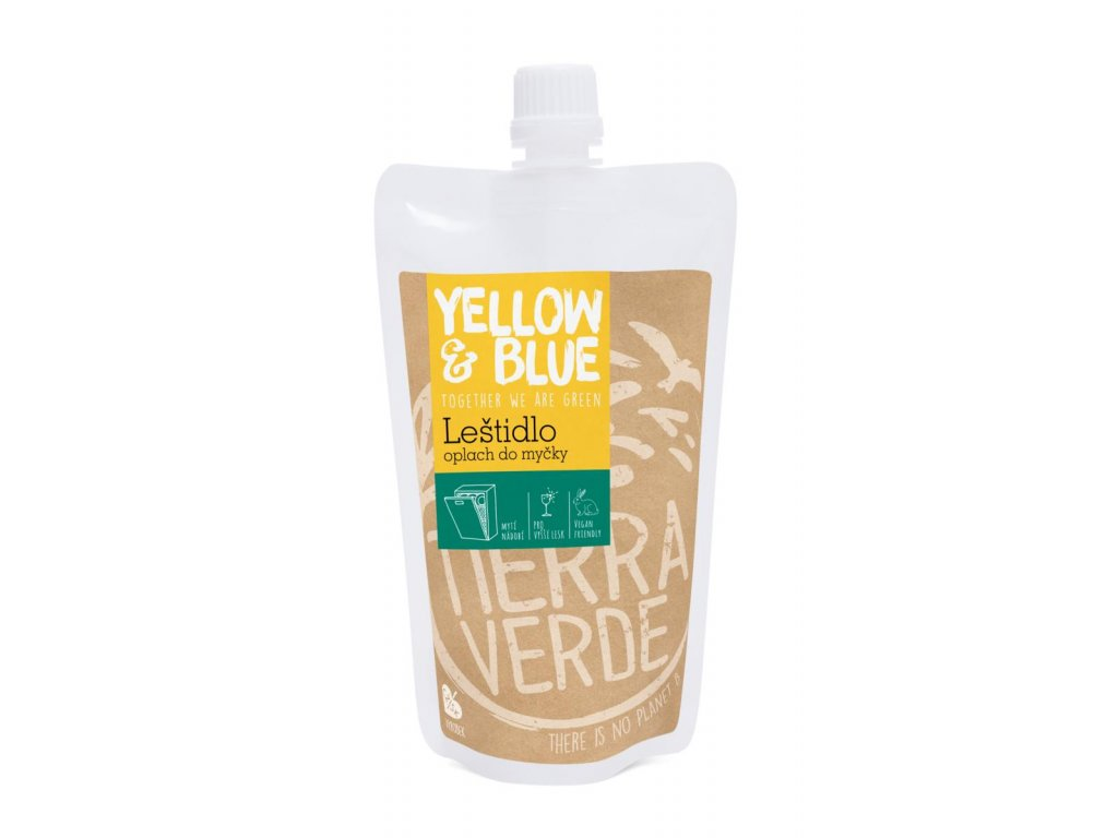 Tierra Verde – Leštidlo - oplach do myčky (Yellow & Blue), 250 ml
