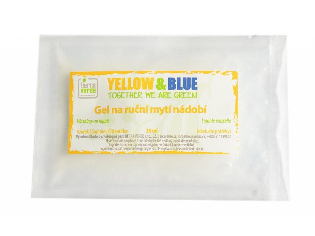 Tierra Verde – Gel na nádobí (Yellow & Blue), 30 ml