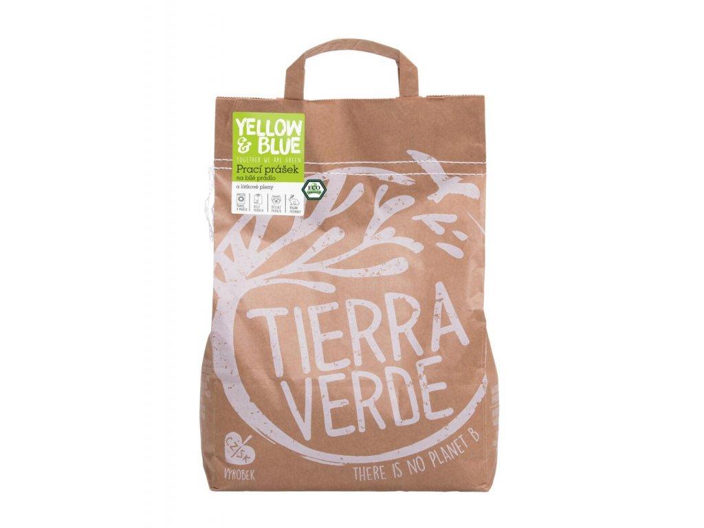 Tierra Verde – Prací prášek na bílé prádlo a pleny (Yellow & Blue), 5 kg