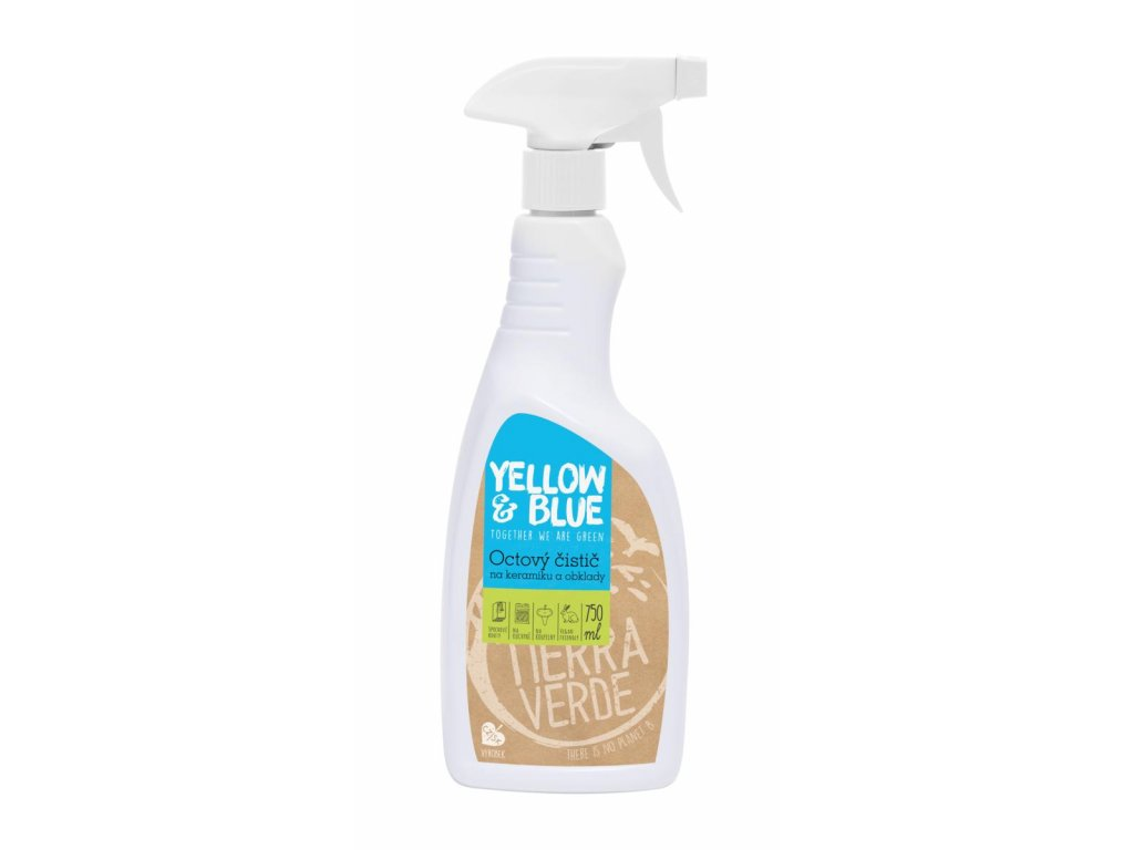 Tierra Verde – Octový čistič (Yellow & Blue), 750 ml