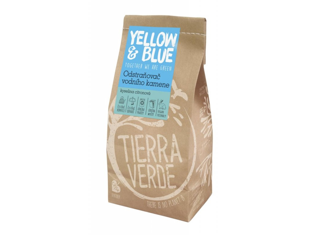 Tierra Verde – Odstraňovač vodního kamene – kyselina citronová (Yellow & Blue), 1 kg