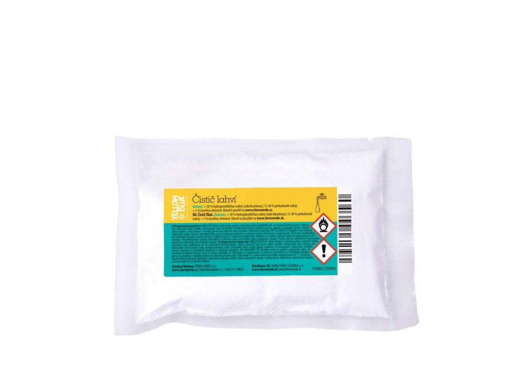 Tierra Verde – Čistič lahví (Yellow & Blue), 50 g
