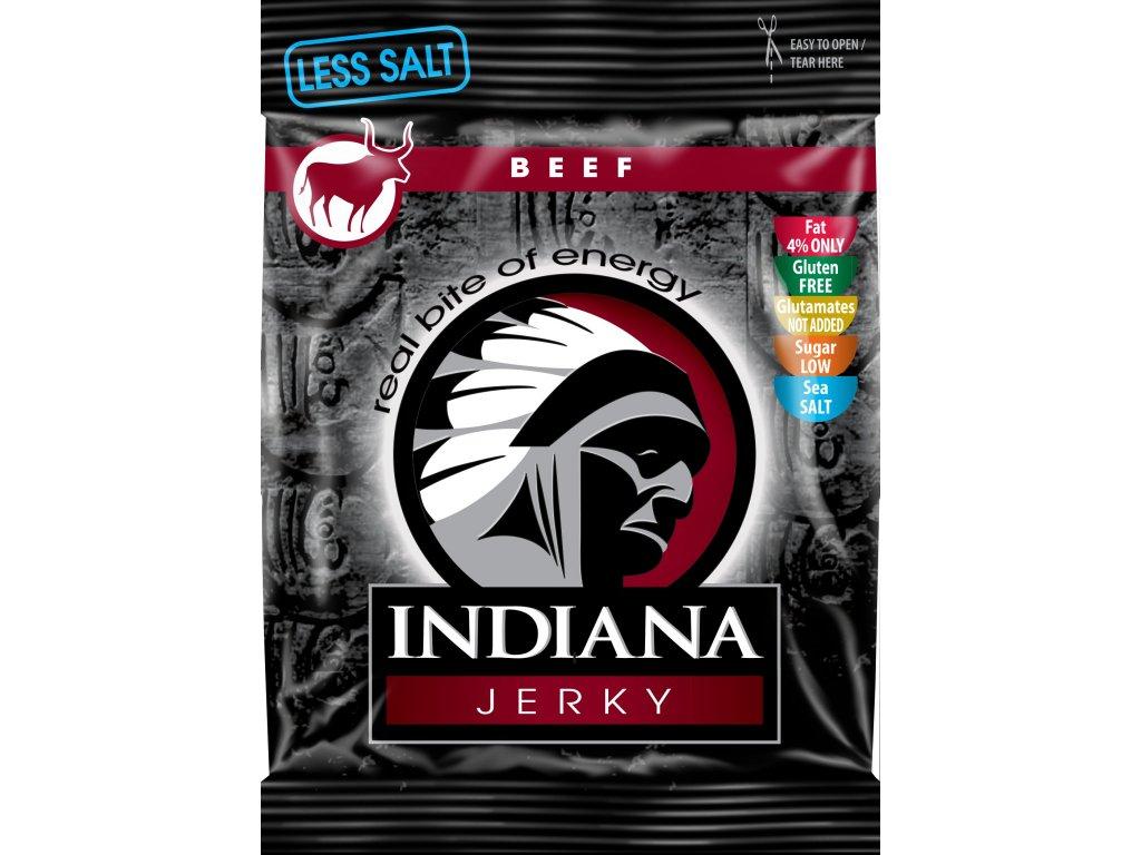 INDIANA Jerky hovězí, Less Salt 25g