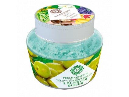 Perlé Cosmetic Cukrový peeling s olivovým olejem 200g
