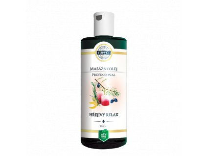 TOPVET Hřejivý relax - masážní olej 200ml
