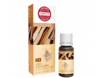 TOPVET Skořice - 100% silice 10ml