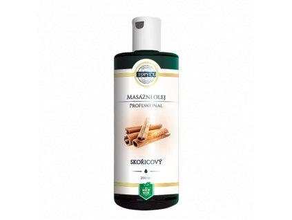 TOPVET Skořicový masážní olej 200ml