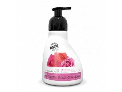 Perlé Cosmetic Sprchová pěna - růže s arganovým olejem 300ml