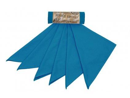 Tierra Verde – Kapesníky pánské – tealová modrá (36×36 cm) 6 ks