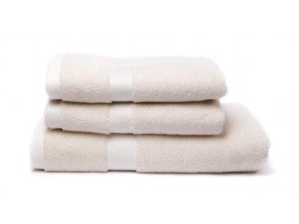 Tierra Verde – Sada dvou ručníků a osušky – natural