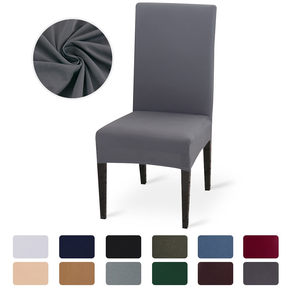 mainimage0Solid-Color-Chair-Cover-Stretch-Spandex-Elastic-Slipcovers-Chair-Covers-White-For-Dining-Room-Kitchen-Wedding