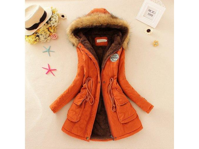 Módní barevný kabát