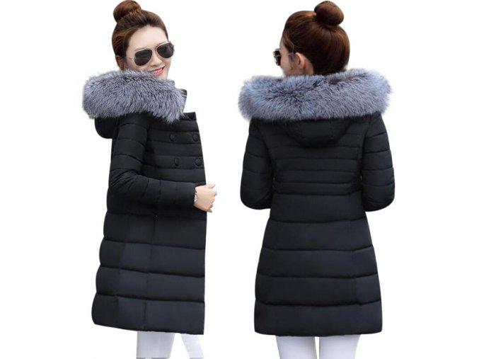 Černá prošívaná bunda