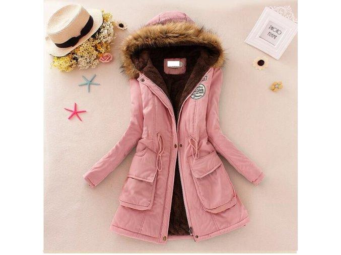 Dlouhá zimní bunda s kapucí