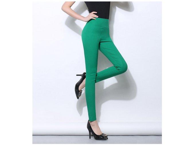 Dámské elastické kalhoty s vysokým pasem