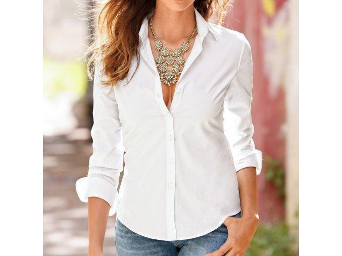 Dámská elegantní košile (barva Bílá, Velikost M)