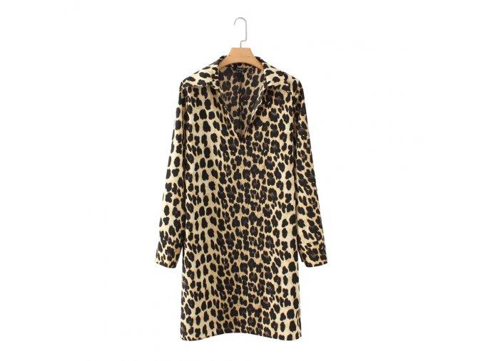 dámská dlouhá leopardí košile (Velikost S)