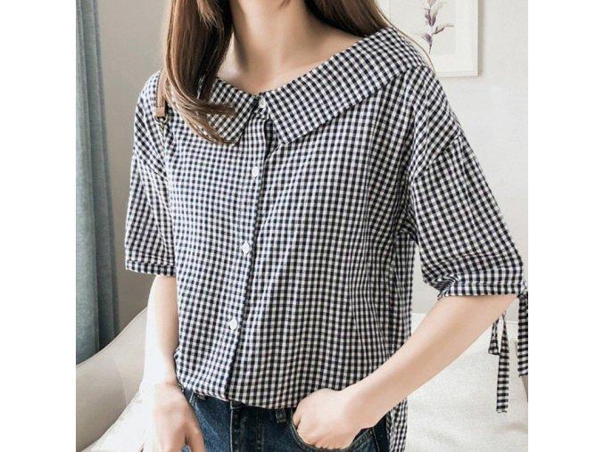 Dámská kostkovaná košile (barva černá, Velikost M)