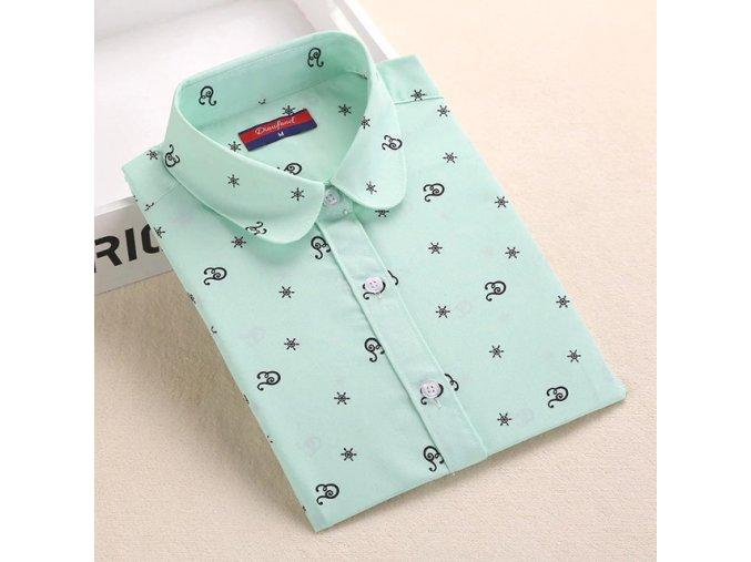 Dámská košile se vzory (Varianta 1, Velikost S)
