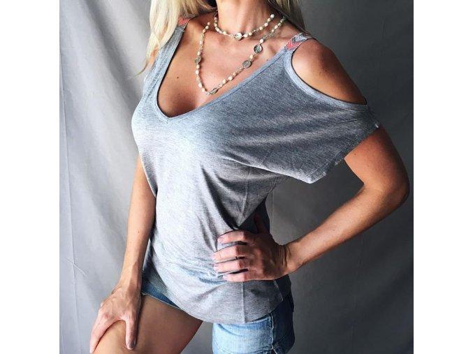 Dámské tričko Mirta (barva šedá, Velikost S)