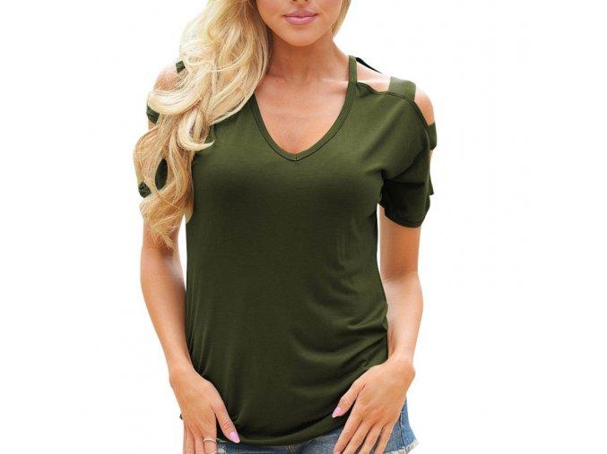 Dámské tričko Fiama (barva Zelená, Velikost S)