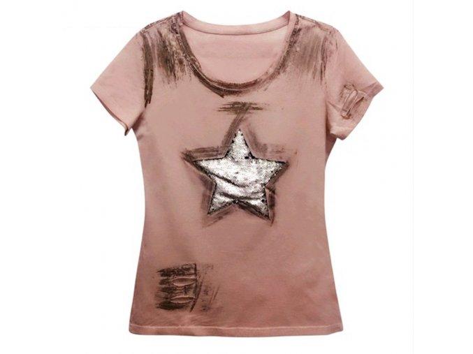 Dámské tričko s krátkým rukávem (barva nebesky modrá, Velikost XL)
