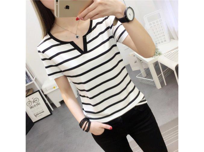 Dámské tričko s dlouhým rukávem (barva Bílá, Varianta 1, Velikost M)