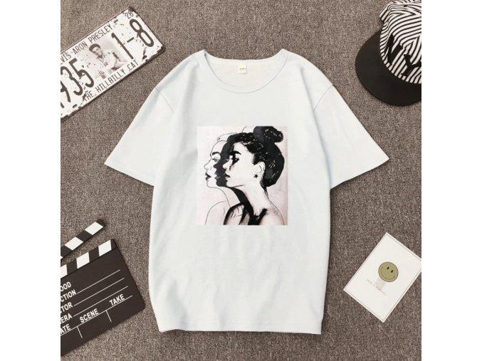 Dámské tričko s potiskem (barva Bílá, Velikost M)