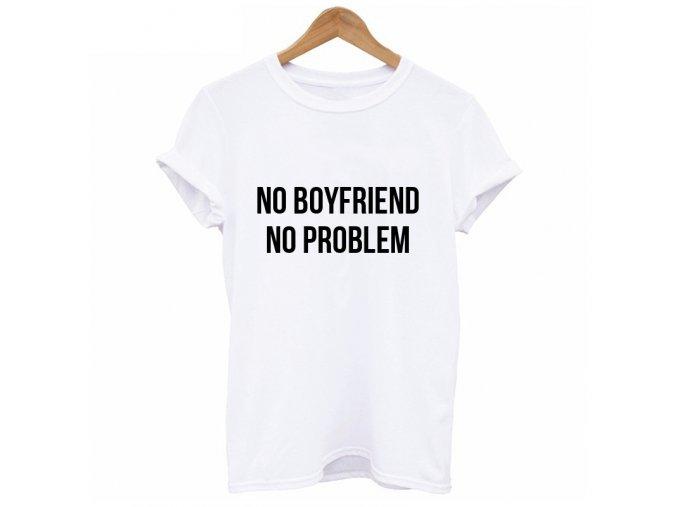 Dámské tričko s nápisem (barva Bílá, Velikost S)