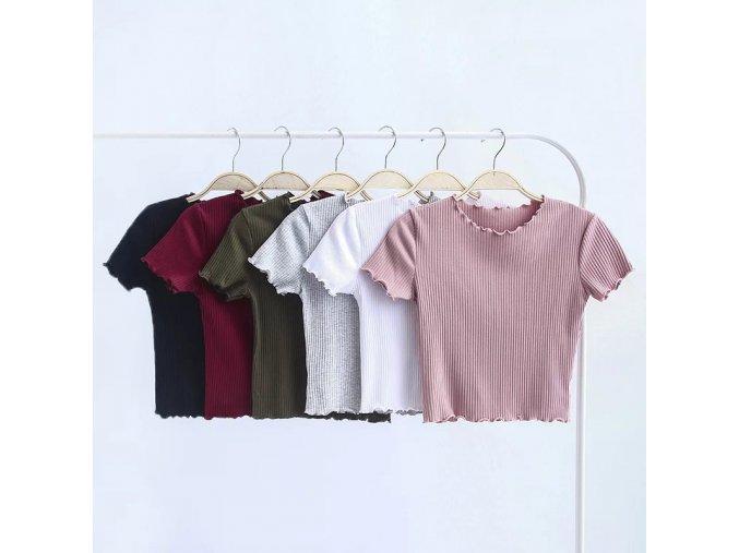 Dámské tričko s krátkým rukávem (barva Bílá, Velikost S)