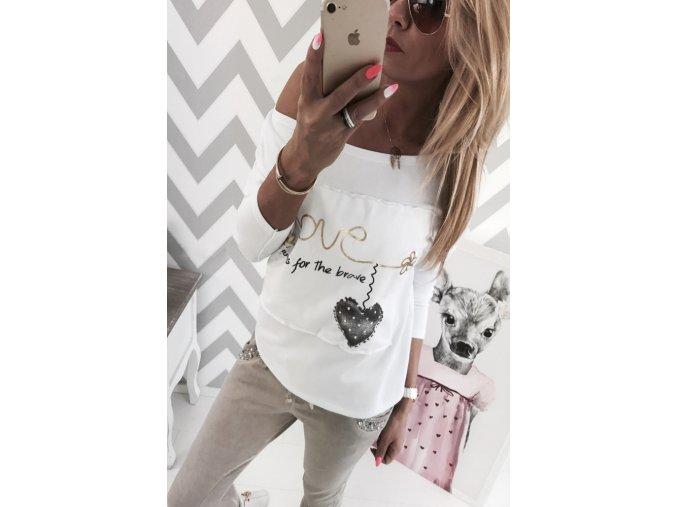 Dámské tričko s dlouhým rukávem (Velikost S)