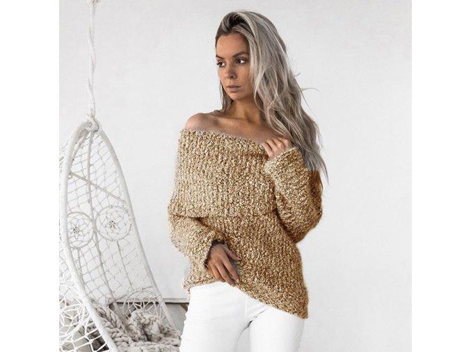 Dámský bavlněný svetr (barva šedá, Velikost XL)