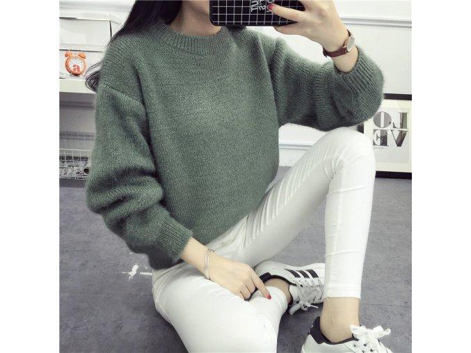 Dámský svetr (Barvy Světle zelená)