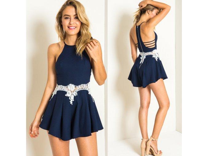Dámské letní šaty Noemi (barva Modrá, Velikost XL)