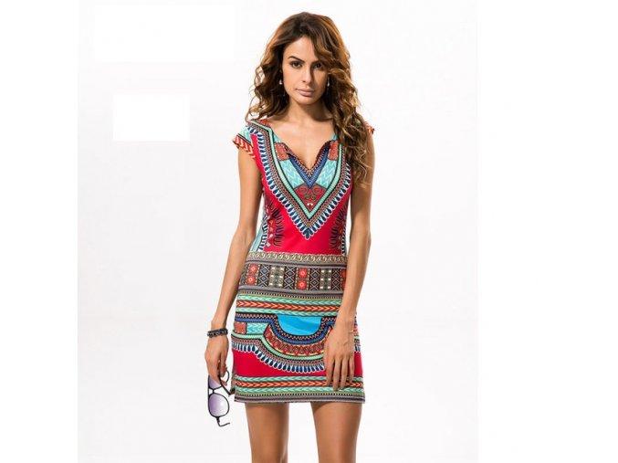 New Ladies Summer Dress Casual 2018 Short V neck Sexy African Dresses Dashiki Traditional Print Mini.jpg 640x640