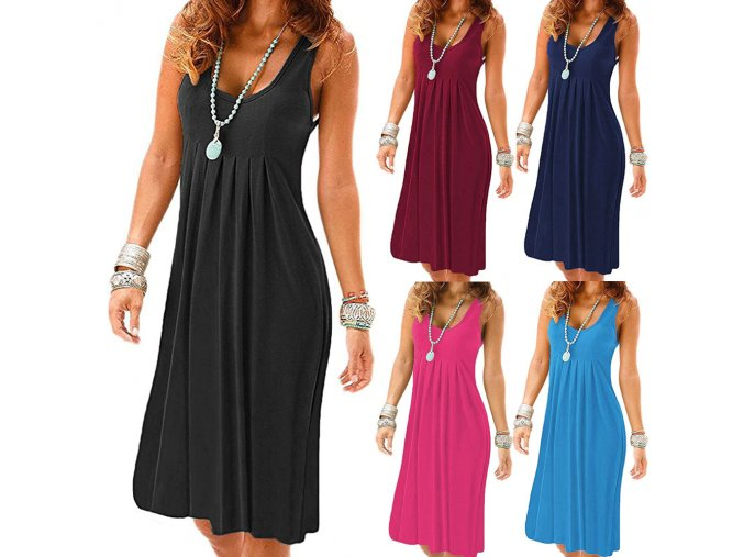 Dámské dlouhé šaty (barva černá, Velikost S)