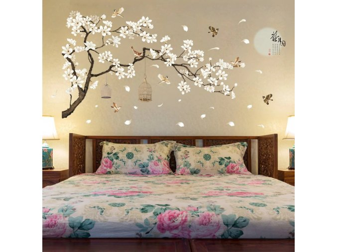 Dekorativní tapeta - rozkvetlý strom