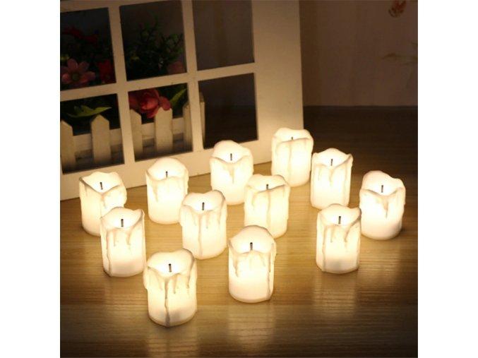 LED svíčky - 12 ks