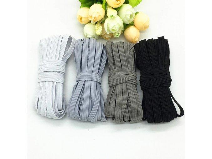 Široká guma - odstíny černé a šedé