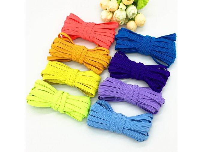 Krásná barevná široká guma