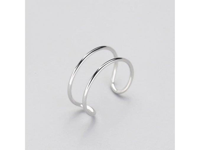 Jemný dvojitý prstýnek