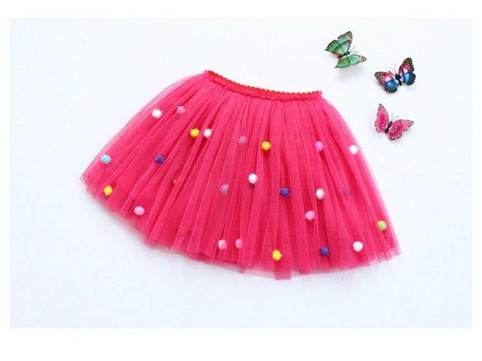 Dětská TUTU sukně s kuličkami