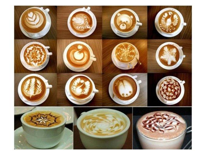 Šablony na cappuccino - 16 ks